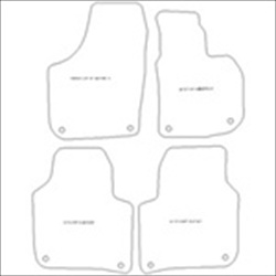 Skoda Superb Oval Clips Car Mats